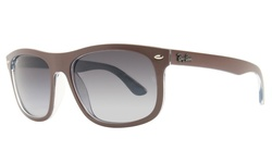 Ray Ban Unisex RB4226F Sunglasses - Brown/Blue Lens