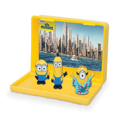 Thinkway Toys Micro Minion Playsets X2 British Minions & Vive Le Minions