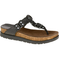 Cat Footwear Women's Sonora Thong Sandals - Black - Size: 6.5