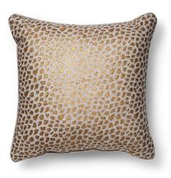 """Threshold Metallic Cheetah Print Throw Pillow - Gold - Size: 20"""" x 20"""""""