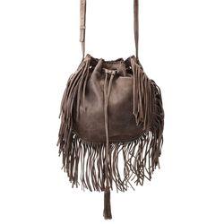 Patricia Nash Women's Caserta Drawstring Bucket Bag - Grey - Size: One