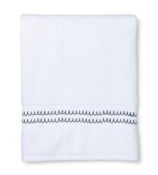 """Sabrina Soto Bath Towel - White/Lite Blue - Size: 54"""" x 30"""""""
