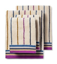 Bedeck 1951 Ila Striped Bath Towel Set of 4 - Navy
