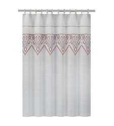 "Nate Berkus Shower Curtain Embroidered Panel - White - Size: 72"" x 72"""