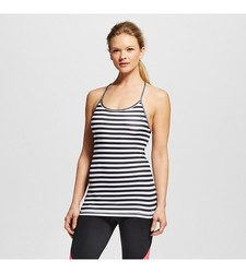 C9 Champion Women's Performance Fitted Tank Top - White/Black - Size: 2XL