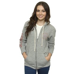 Junk Food NFL Women's Full Zip Sunday Hoodie - Medium Heather - Size: XXL