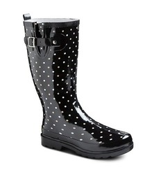 Western Chief Women's Polka Dot Rainboots - Black - Size: 9