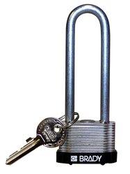 Brady Black Key Retaining Steel Padlock - Black