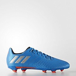 adidas Performance Kids' Messi 16.3 Firm Ground Soccer Cleats, Shock Blue/Matte Silver/Black, 3 M US Little Kid