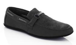 Franco Vanucci Men's Roberto Driver Shoes - Grey - Size: 6