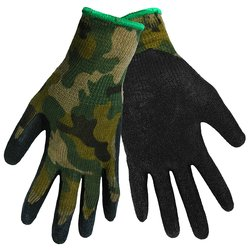 Global Glove 300B Gripster Rubber Dip Glove with Knitwrist - Black -Size:M