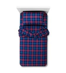 Circo Plaid Flannel Sheet Set - Blue - Size: Toddler