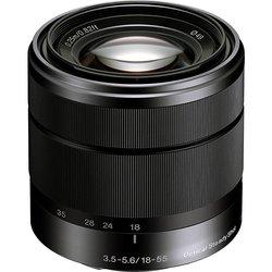 Sony Alpha SEL1855 E Mount F3.5-5.6 OSS Lens - Black - Size: 18-55mm