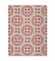 Threshold Indoor/Outdoor Flatweave Medallion Rug - Coral - Size: