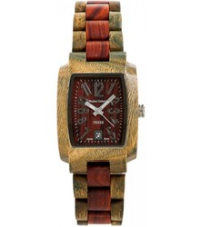 Tense Men's Two Tone Green Sandalwood Hypoallergenic Watch