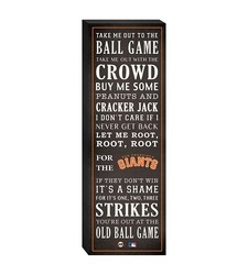 "San Francisco Giants ""Take Me Out To The Ballgame"" Canvas"
