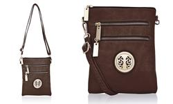 MKF Collection Women's Exceptional Crossbody Handbag - Coffee - Size: M