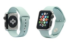 Faly Silicone Sport Apple Watch Replacement Band - Mint - Size: 42mm