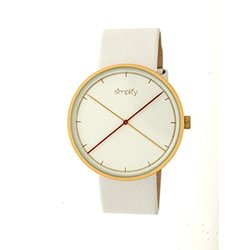 Simplify The 4100 Men's Watch: Sim4104 White Band-white Dial