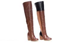 Tall patchwork boot L6052-27 Cognac 8.5