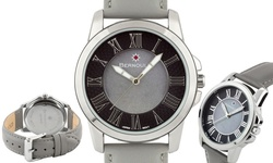 Bernoulli Faun Women's Mother of Pearl Dial Watch - Grey Band