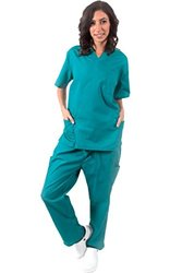 Natural Uniforms Women's Cargo Scrub Set 3X-Large Teal