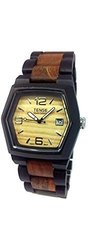 Tense Wood Watch Men's Two Tone with Date Window - Light Face