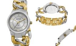 August Steiner Women's Chain-Link Bracelet Watch - Gold/Silver