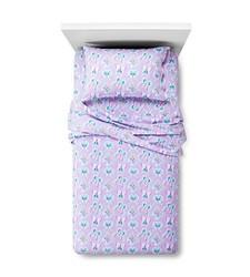 Circo Butterfly Flannel Sheet 3 Pc Set - Purple - Size: Twin
