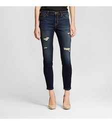 Mossimo Women's Mid Rise Jegging Dark Wash - Denim Blue - Size: 0
