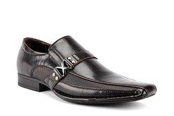 Bonafini Men's Bleted Strap Dress Shoes Loafers - Dark Brown - Size: 10
