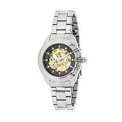 Empress Godiva Ladies Watch: Em1102 Silver Band-black Dial