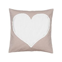 "Levtex Heart Throw Pillow - Tan - Size: 20""x20"""
