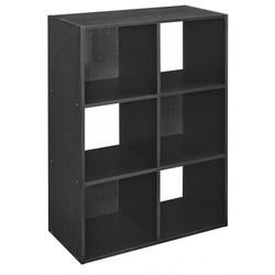 ClosetMaid Cubeicals 6-Cube Organizer Shelf - Black Ash