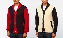 Xray Jeans Shawl-collar Cardigan - Navy - Size: 3XL