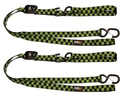 EK Ekcessories Power Cat Checker Dual Safety Clip Tie Down - Green/Black