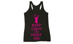 LC Trendz Ladies Hunting & Fishing Tanks - Keep Calm And Hunt On - Size: S