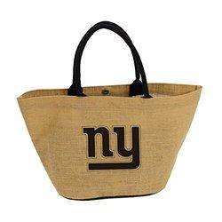 Nfl Avalon Jute Tote: New York Giants