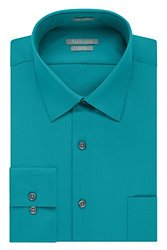 Van Heusen Fitted Lux Sateen Spread Collar Dress Shirt