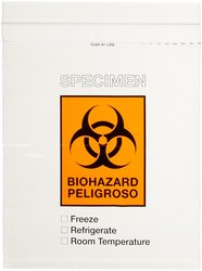 "Globe Scientific 4926 Polyethylene Transport Bag - Size: 8""W X 10""L"