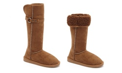 Serene Women's Comfort Spencer Boots - Chestnut - Size: 10