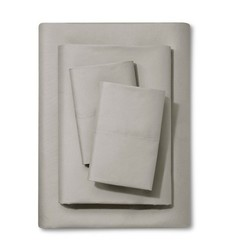 Xhilaration 255 TC Solid Sheet Set - Grey - Size: Full