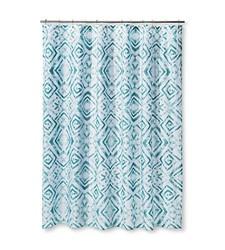 "Sabrina Soto Tulum Shower Curtain - Aqua - Size: 72""x72"""