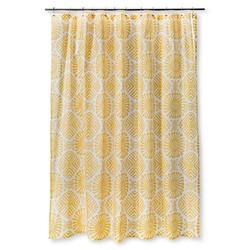 "Sabrina Soto Medallion Shower Curtain - Yellow/White - Size: 72""x72"""