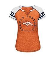 VF LSG NFL Denver Broncos Women's T-Shirt - O Blurry/White/Navy - Size: S