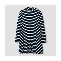 Xhilaration Girl's Knit Dress - Blue Stripe - Size: XL