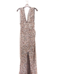 Rachel Zoe Neil Seamed Bust Maxi Dress - Confetti Sequin - Size: 4