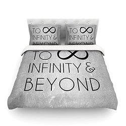 """Kess InHouse KESS Original """"To Infinity and Beyond"""" 104 by 88-Inch Cotton Duvet Cover, King"""