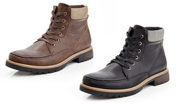 Marco Vitale Men's Lace Up Combat Chooka Casual Boots: Brown/11