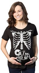 Halloween Maternity T-shirt: X-ray Baby/xxl